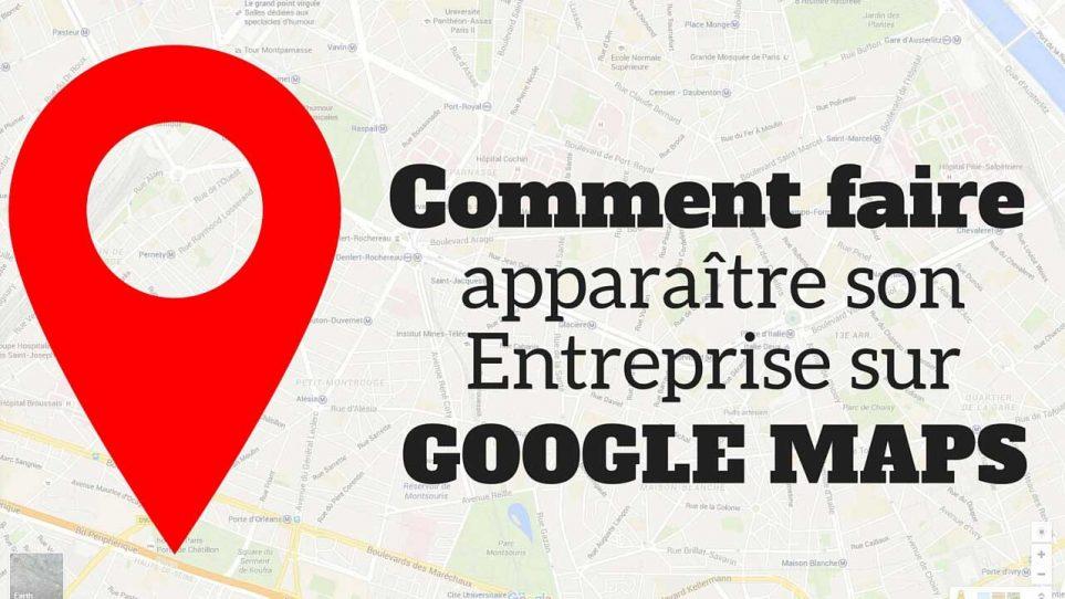 Comment apparaître sur Google Map