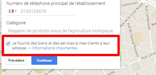 apparaitre dans google maps