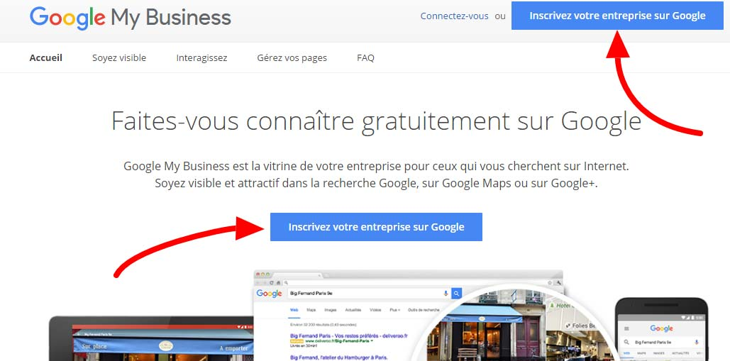 comment apparaitre sur google maps