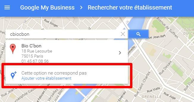 fiche entreprise google