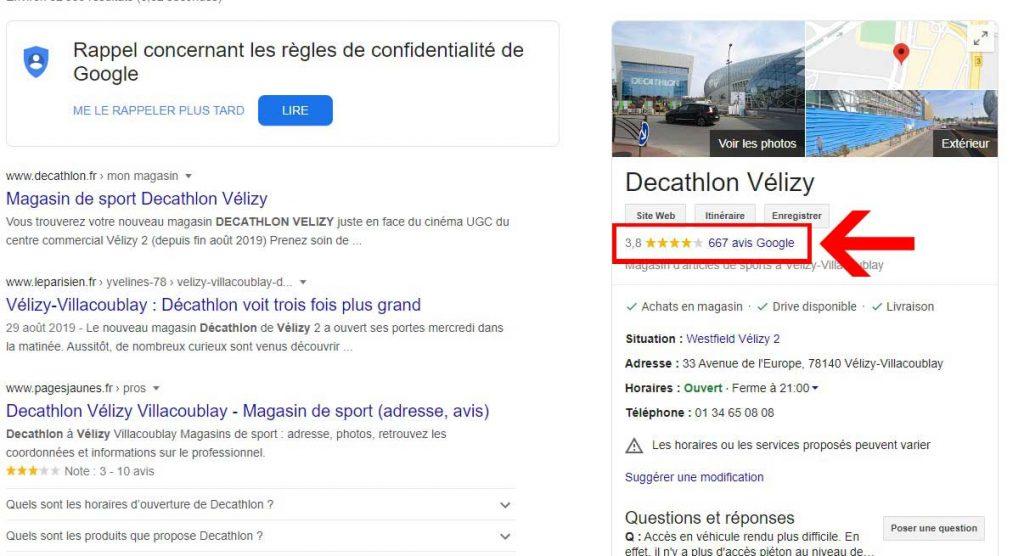 comment mettre un avis sur google business