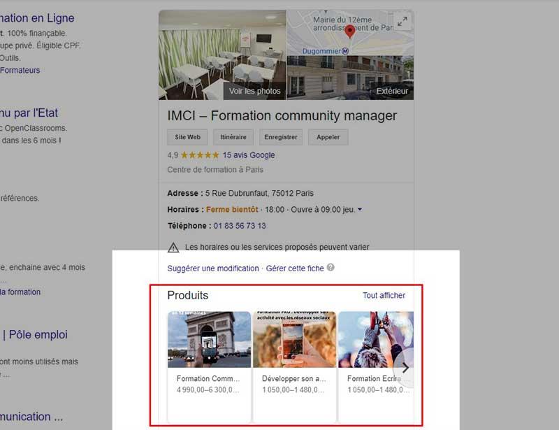 optimisation google my business
