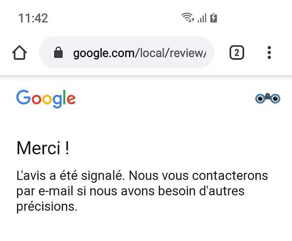 supprimer un avis google my business